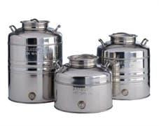 Традиционная бочка с краном на 15 литров из нержавеющей стали Sansone