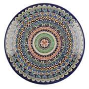 Ляган Риштанская Керамика 32 см. плоский, синий