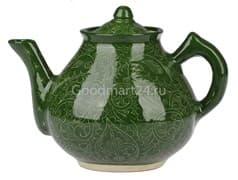 Чайник заварочный Риштанская Керамика 2 л. зеленый