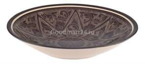 Тарелка плоская Риштанская Керамика 19 см. коричневая